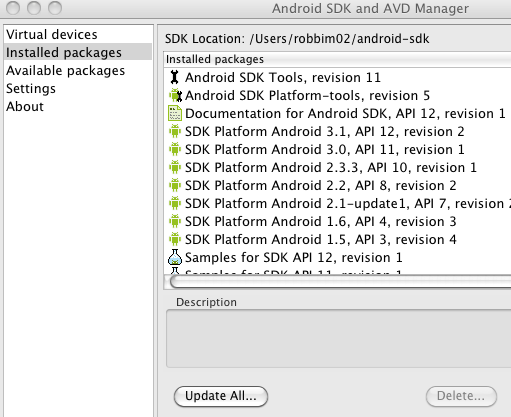 android packages
